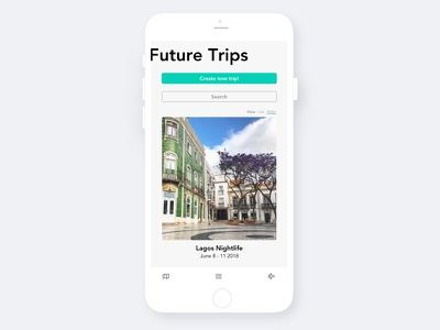 Mobile Travel app mobile ui mobile design simple clean minimal