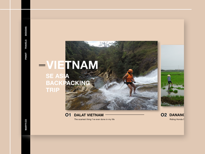 Travel Blog Desktop minimal portfolio desktop ui ux ui blog travel desktop