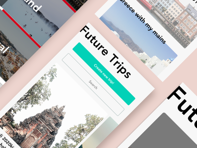 Dribbble app travel mobile design ui mobile app simple clean minimal