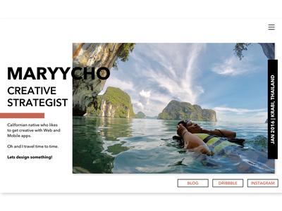 Maryy.co minimal portfolio desktop ui ux ui blog travel desktop