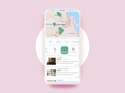 @maryycho minimal app mobile travel ui