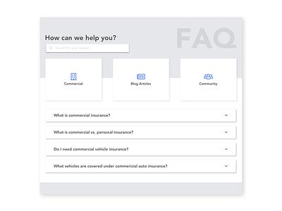 FAQ faq minimal desktop ui