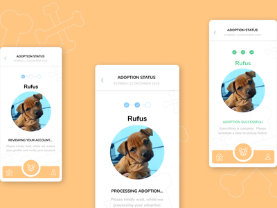 puppy adoption app nav bar mobile mobile app ios statusbar status update