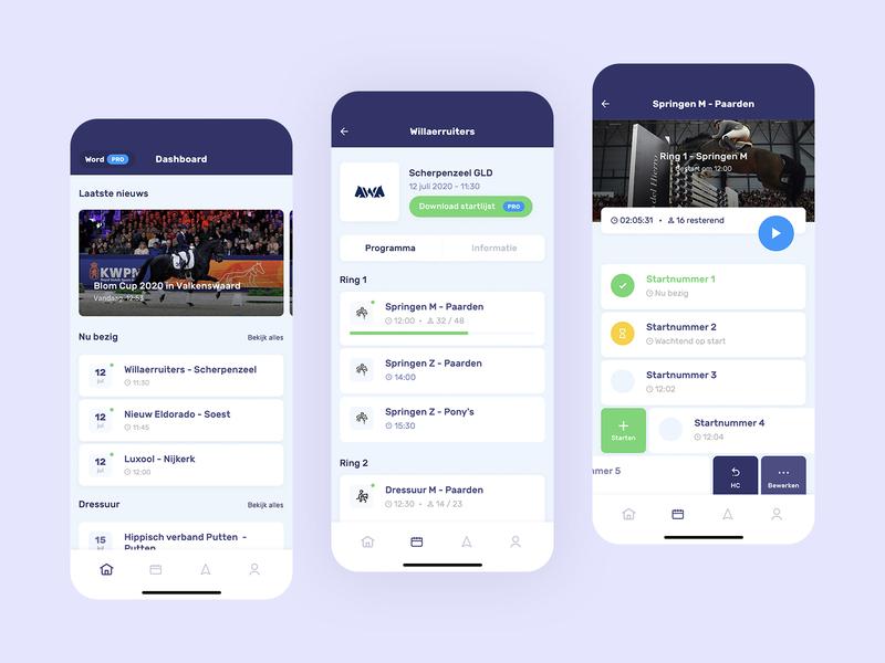 🐴 gesture list simple purple application react app design flat app