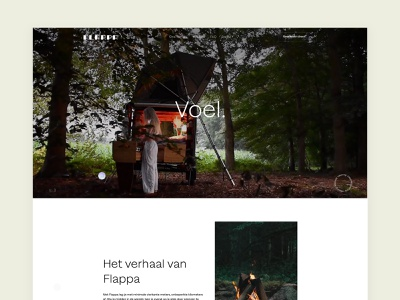 Flappa - An unique way of camping grid hero flat web header white clean video simple