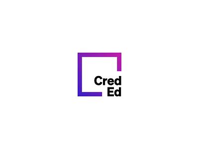CredEd Logo Animation visual identity logo animation gradient brand design brand identity logo