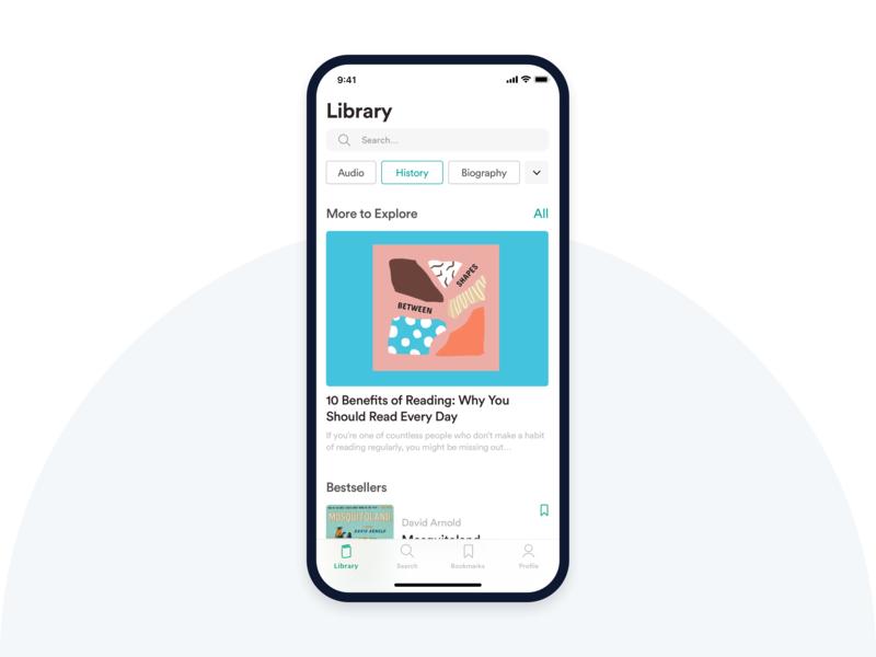 Reading Application Concept ux application reading app read app book typography vector ui design
