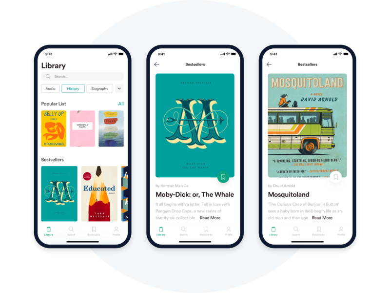 Reading Application vector reading app read dribbble book application app ui typography