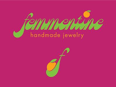 Femmentine Logo & Icon clementine jewelry logo jewelry identity design branding icon logo