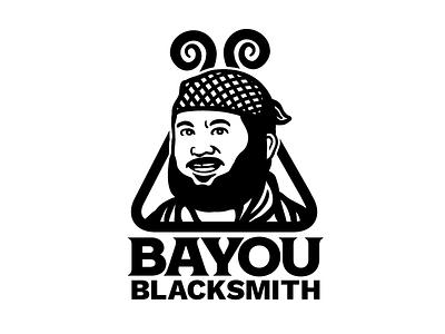 Bayou Blacksmith Logo artisan country folk tfer blacksmith zydeco cajun lafayette louisiana branding logo