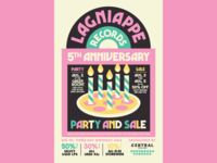 Lagniappe Records — 5th Anniversary Poster