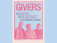 GIVERS / EP Party Poster