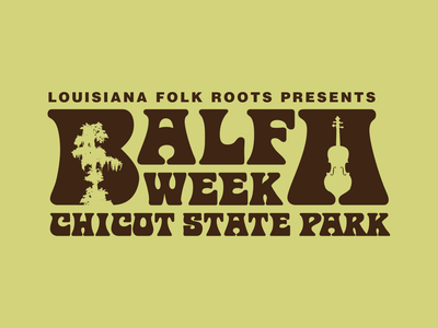 LA Folk Roots   Balfa Week Logo cultural organization culture festival louisiana creole cajun identity branding logo