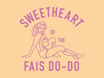 Sweetheart Of The Fais Do-Do tshirt summer vintage louisiana cowgirl western retro pinup illustration