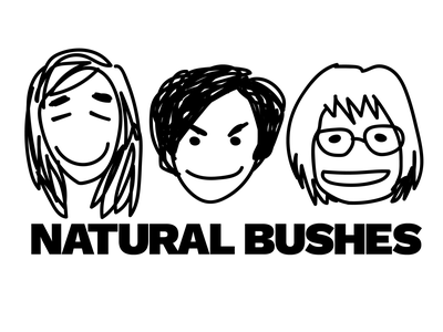 Natural Bushes rock and roll scribble punk music illustration