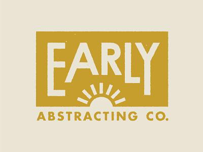 Early Abstracting Co. titlework titling legal 1940s sunrise sun retro vintage logo design logo