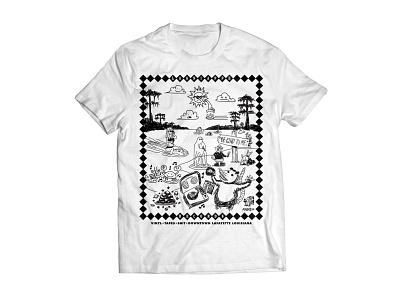 Lagniappe Records Swamp Party Tshirt louisiana tshirt doodle drawing animals swamp records vinyl record shop illustration