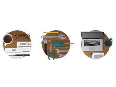 More Web Icons! icons flat desk tools