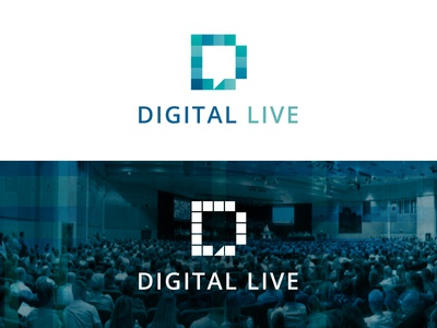 Digital Live digital conference blue bubble quote