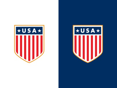 Classic USA soccer usa badge