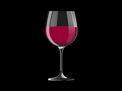 Wine Glass wine glass red