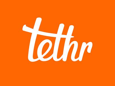 Tethr Logo script logo