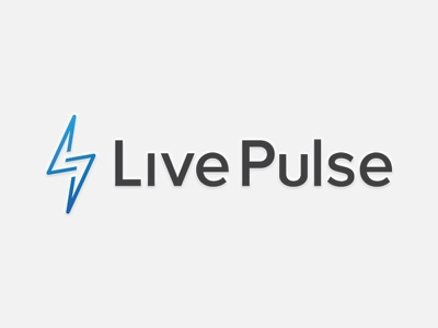 Live Pulse Logo lightning bolt logo
