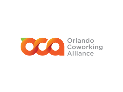 Orlando Coworking Logo orange logo