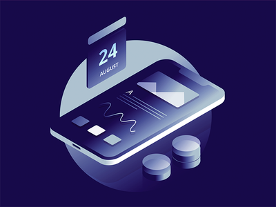 Smart Assistant - Isometric Illustration vector mobile minimalism isometric ios interface illustration flat design app ux ui