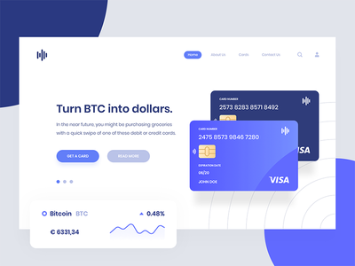 Cryptopay - Financial Page Concept cryptocurrency bitcoin data white web wallet flat design ui dashboard clean card