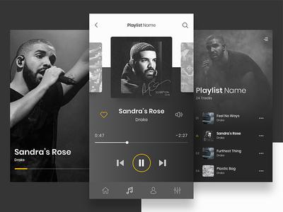 Custom Music Player App