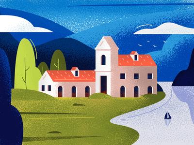 West Norway Landscape - Illustration