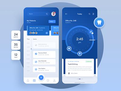 Pharmagy - Medical App 👩⚕️ ux ui reminder alarm clock pills mobile drug clean blue medicine medical healthcare health app