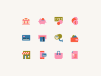 Icons for an online shop