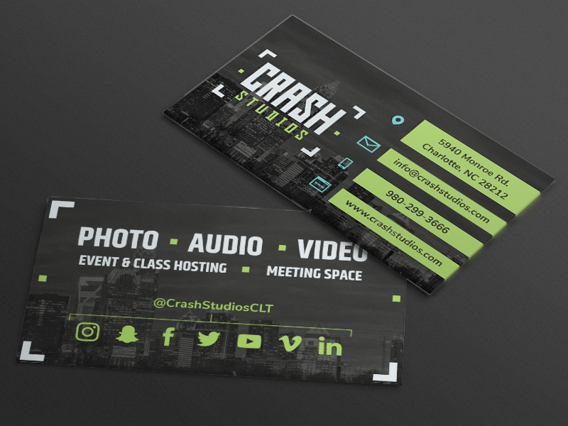 Crash studios business cards by ryan freeze dribbble business card concept for crash studios a new photography and video space in charlotte nc colourmoves