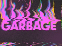 Garbage - Glitch Logo