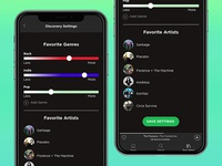Spotify - Music Discovery Settings