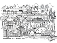 ByFarr Easter 2020 Coloring Sheet fun coloring page coloringbook illstration vector columbiasc graphics design design illustration