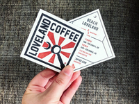 Loveland Coffee Letterpressed Business Cards