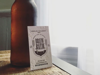 Brew bath letterpress business cards