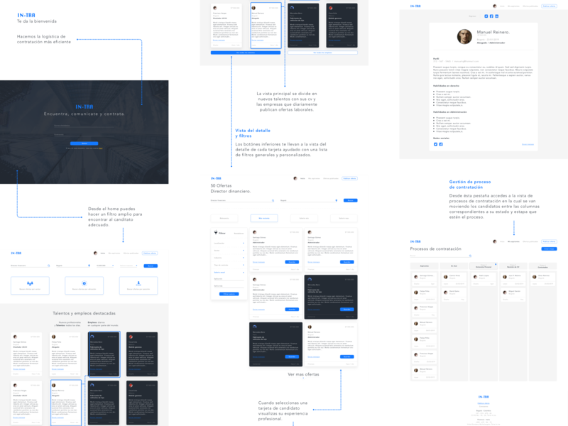 Intra - Plataforma de reclutamiento aplicación diseño uxdesign plataforma web ux ui