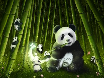 pandas design illustration