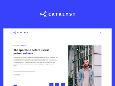 Catalyst Website Concept