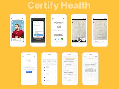 Bumble App Certify Health Feature dating app illustrator cc adobe xd product design uidesign ux design