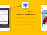 Bumble App Certify Health Feature Advertisement