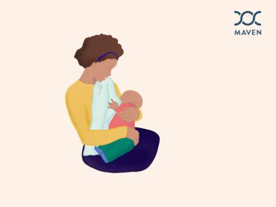 Nursing Mother / Maven Clinic Inspired Illustration