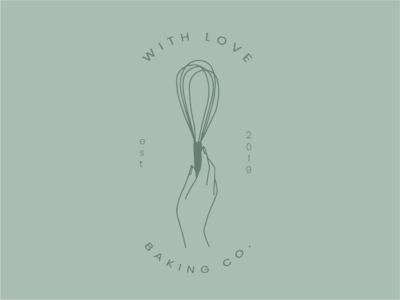 With Love Baking Co Logo Green