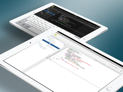 Code Editor ipad editor code cloud design ux ui