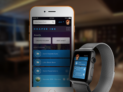 File Manager - Apple Watch ux ui interaction design product apple watch