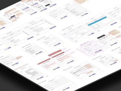 Modal System Dribbble design system library pattern ux ui modal